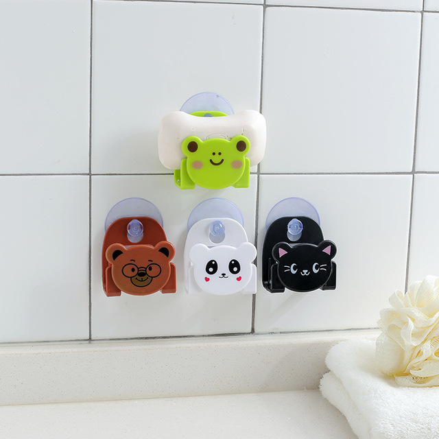 Sink Sponge Holders Kitchen Dish Cloth Storage Rack Scrubbers Supplies Holder Cartoon Sundries Racks With Strong Suction Cup 2