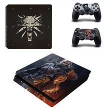 The Witcher 3 Wild Hunt PS4 Slim Skin Sticker Decal for PlayStation 4 Console and Controller PS4 Slim Skins Stickers Vinyl