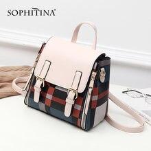 Винтажный женский рюкзак sophitina модные маленькие сумки с