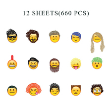 12 Sheets(660)stickers Mini Smile Face Emoji Sticker DIY Diary Notebook Funny Anime Stickers Stitch Pegatinas Toys for Children 27 sheets 1300 style cut emoji sticker smile for notebook message high vinyl funny creative free shipping
