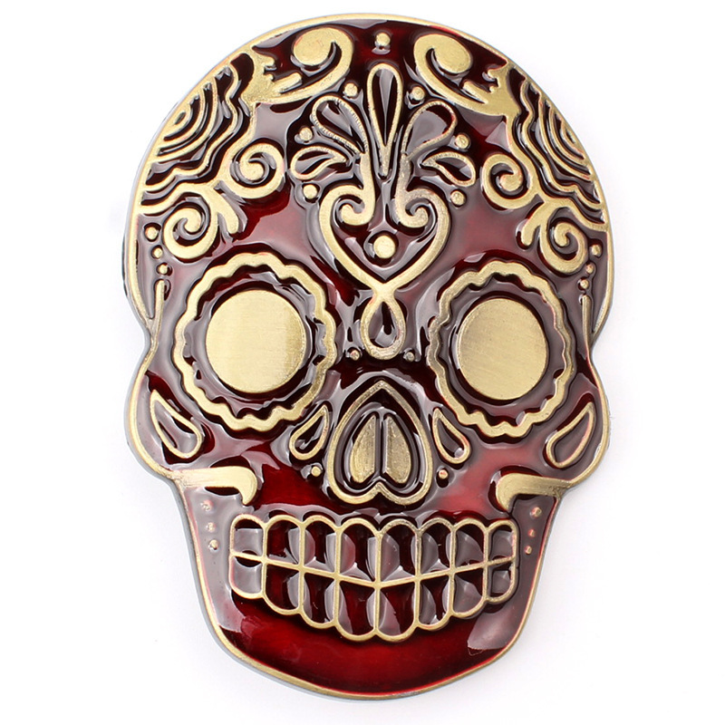 Skull Skeleton Mask Belt Buckle Belt DIY Accessories Western Cowboy Style Smooth Belt Buckle Punk Rock Style