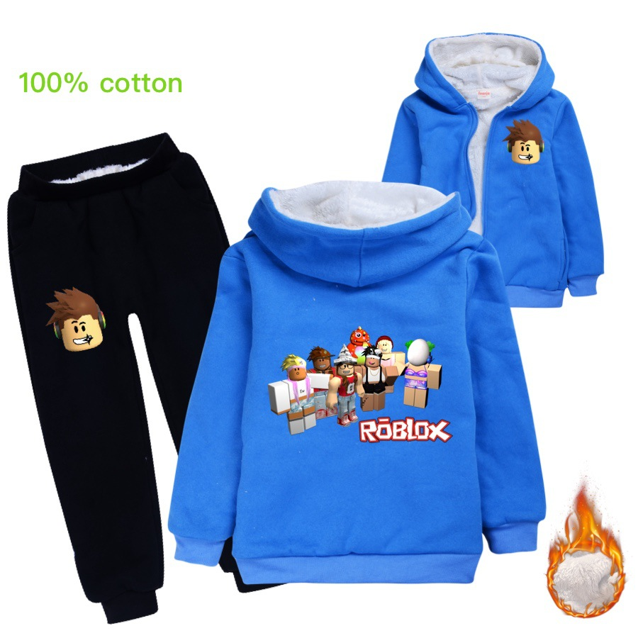 Thick Girl Roblox Girls Clothing Sets Winter Thick Plush Roblox Children Clothes Coats Pants Baby Boys Tracksuit Autumn Outfits Kids Sport Suit Aliexpress