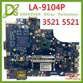 KEFU VAW11 LA-9104P для DELL Inspiron 15 3521 5521 материнская плата для ноутбука CN-00FTK8 LA-9104P двухъядерный 2127U/1007U оригинал