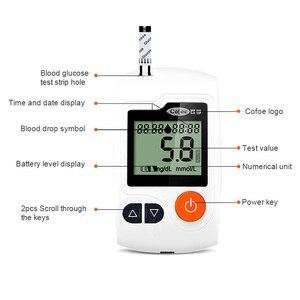 Image 4 - جهاز قياس السكر بالدم وشرائط الاختبار والسنون من Cofoe ييلي ، جهاز قياس السكر بالدم ، جهاز فحص سكر الدم الطبي ، جهاز غلوكمتر للأشخاص