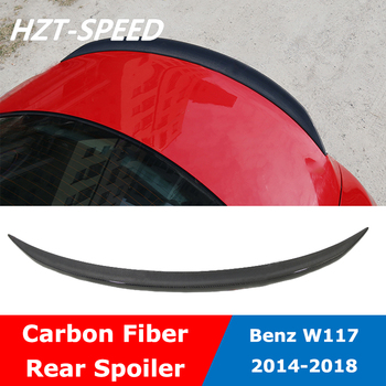 W117 Carbon Fiber Material Back Trunk Rear Wing Spoiler For BENZ W117 Cla200 Cla220 Cla260 Modify 2014-2018