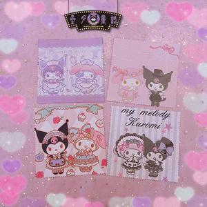 Cloth Glasses Kuromi-Napkin Pink Mymelody Cute for Phone-Screen Elegant Printed High-Quality