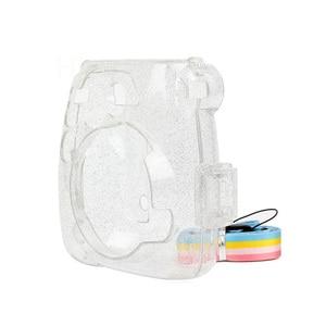 Image 3 - Transparante Camera Case, Crystal Clear Tas, compatibel Voor Fujifilm Instax Mini 9/Mini 8 +/Mini 8 Instant Film Camera Met Riem