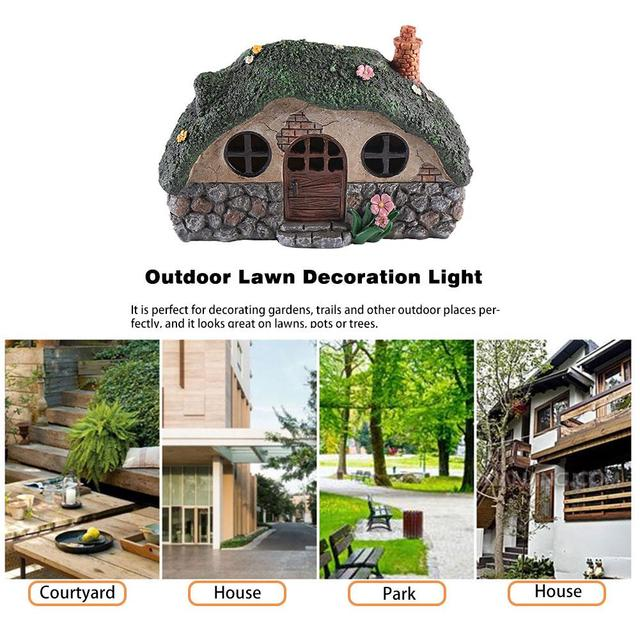 LED Solar Fairy House Light Anti-corrosion Solar Powered Pathway Lights Decorative Outdoor Lawn Yard Lamp For Garden Patio 4