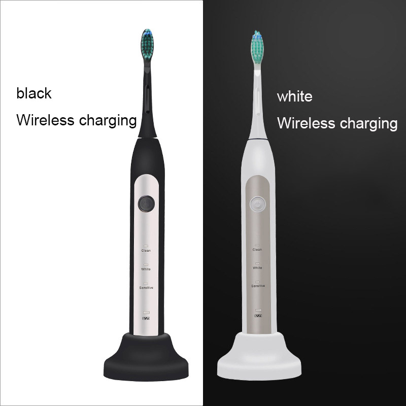 Ultrasonic Electric Toothbrush Rechargeable Adult Waterproof IPX7 Sonic Toothbrush Electric Toothbrush Electronic Whitening Toot image