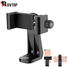 Rovtop Stativ Mount Adapter Handy Clipper Halter Vertikale 360 Rotation Stativ für iPhone X 7 Plus Samsung Stativ(China)