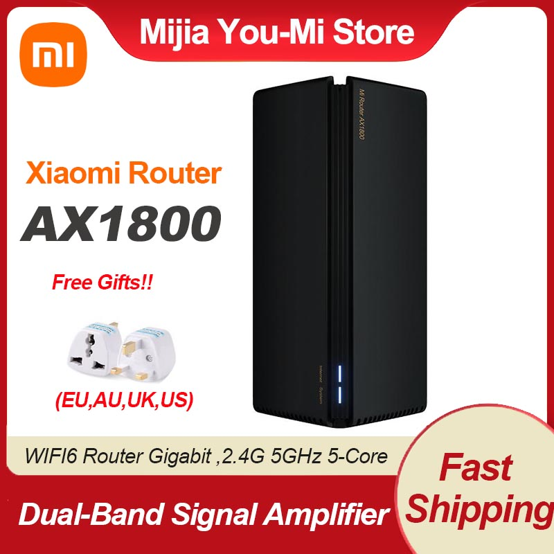 Xiaomi AX1800 WIFI6 Router Gigabit 2.4G 5GHz 5-Core Dual-Band Router OFDMA Repeater Signal Amplifier With EU UK Adapter Router