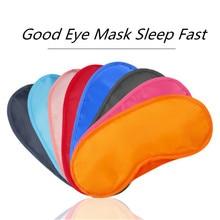 Soft-Eye-Mask Shade-Patch Blindfold Fast-Sleeping-Eyeshade-Cover Travel Black Portable