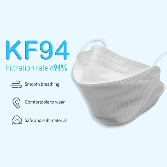 40PCS KF94 Anti-Flu Face Mask Dustproof 4-Layer Filtration Protection 94% Against Droplet Nose Face Covers Individual Package 3