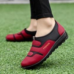 Mais tamanho sólido tênis femininos vulcanizar sapatos casuais enfermeira sapatos femininos macio casual apartamentos senhoras tênis conforto