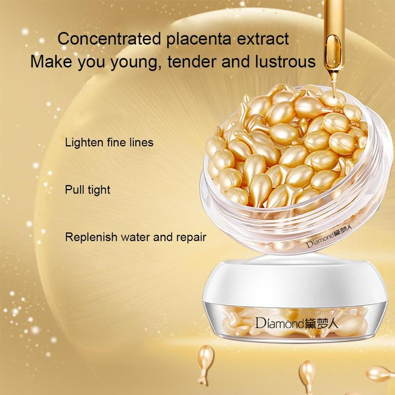 30Pcs/Bottle Hyaluronic Acid Essence Capsules Anti-aging Vitamin E Serum Spot Acne Removing Whitening Cream Essence Face Care