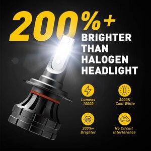 Image 4 - 2PCS H7 LED Headlamp H4 H11 H8 H9 9005/HB3 9006/HB4 9012 HIR2 10000LM 6000K White Car led Headlight Bulbs Fog Lights Car Lights