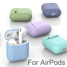 애플 에어팟 대 한 실리콘 케이스 보호 커버 TPU 블루투스 이어폰 소프트 실리콘 커버 공기 포드 2 경우에 대 한