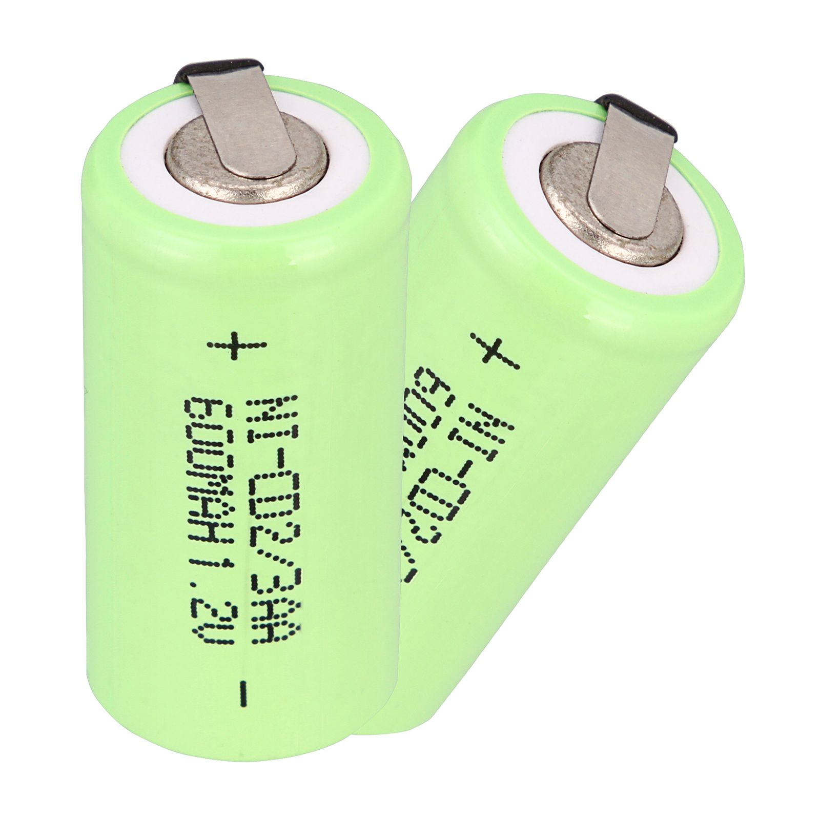 2~32PCS 2/3 <font><b>AA</b></font> <font><b>nicd</b></font> <font><b>1.2V</b></font> <font><b>Battery</b></font> 600 Ni-CD Rechargeable <font><b>Battery</b></font> 1.2 V Green Color image