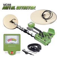 Md88 busca subterrâneo detector de metais profissional detector de ouro fiação tesouro caçador display lcd detectar profundidade 5m 2 bobinas|treasure hunter|gold digger|metal detector gold digger -