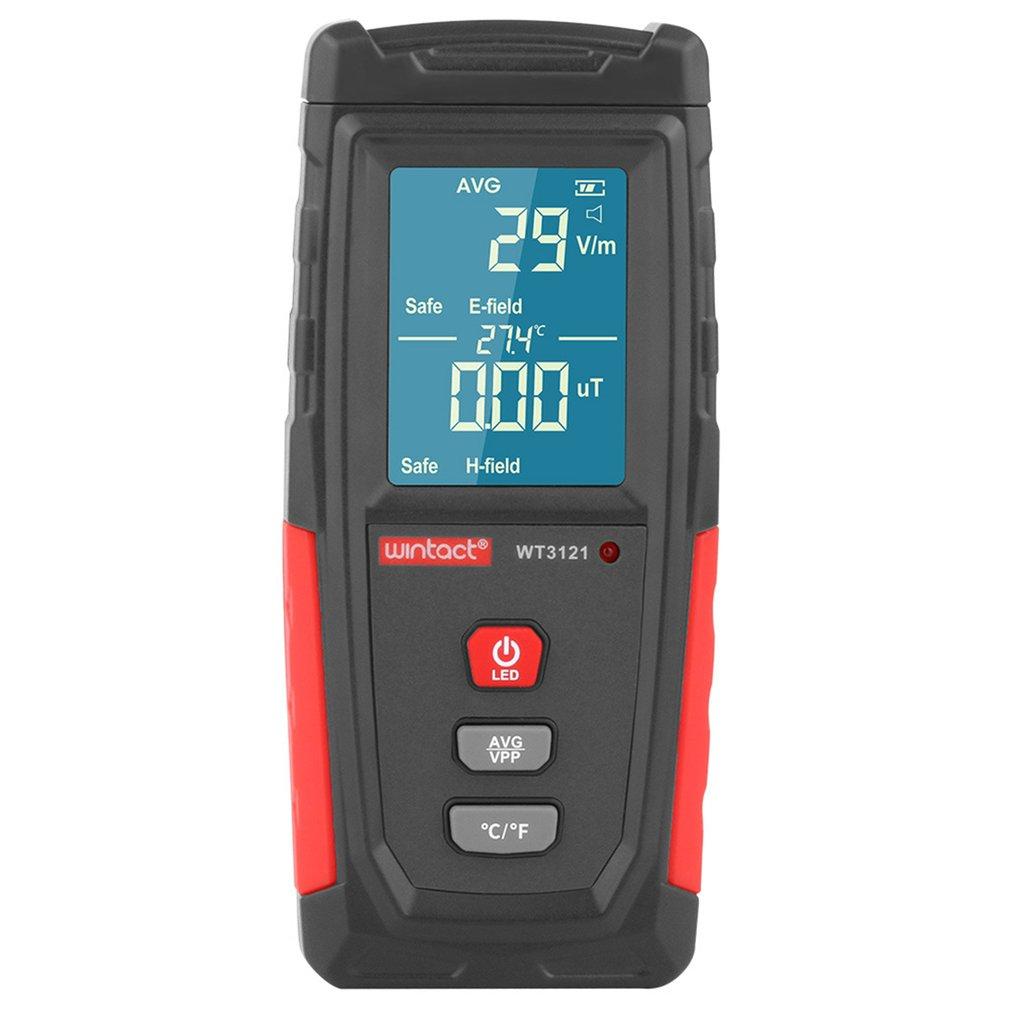 Medidor EMF LCD Digital de mano WT3121 probador de radiación electromagnética campo eléctrico detector de dosímetros 8 pulgadas protección contra la radiación 3D teléfono móvil pantalla amplificador teléfono móvil titular de la pantalla de vídeo HD caja de cuero lupa