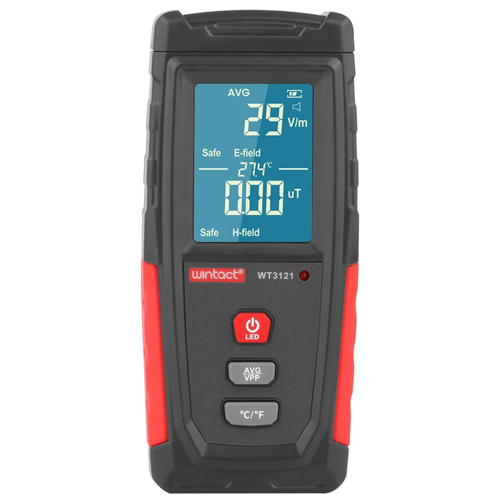 WT3121 Handheld Digital LCD EMF Meter Electromagnetic Radiation Tester Electric Field Magnetic Field Dosimeter Detector