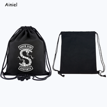 Männer Tasche South Side Serpents Riverdale Cosplay Tasche Vintage Mann Leinwand Reisetasche Frauen Einfache Schule Rucksack Kordelzug Erwachsene(China)