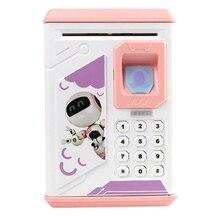 Electronic Piggy Bank Atm Password Fingerprint Money Box Cash Coins With Music