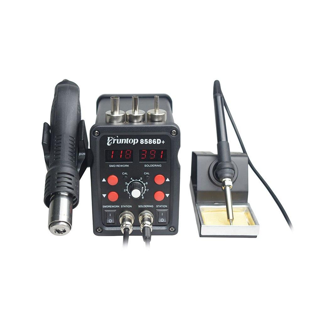 110 / 220V 750W 2 in 1 SMD įrangos perdarymo stotis Eruntop 8586 - Suvirinimo įranga - Nuotrauka 4