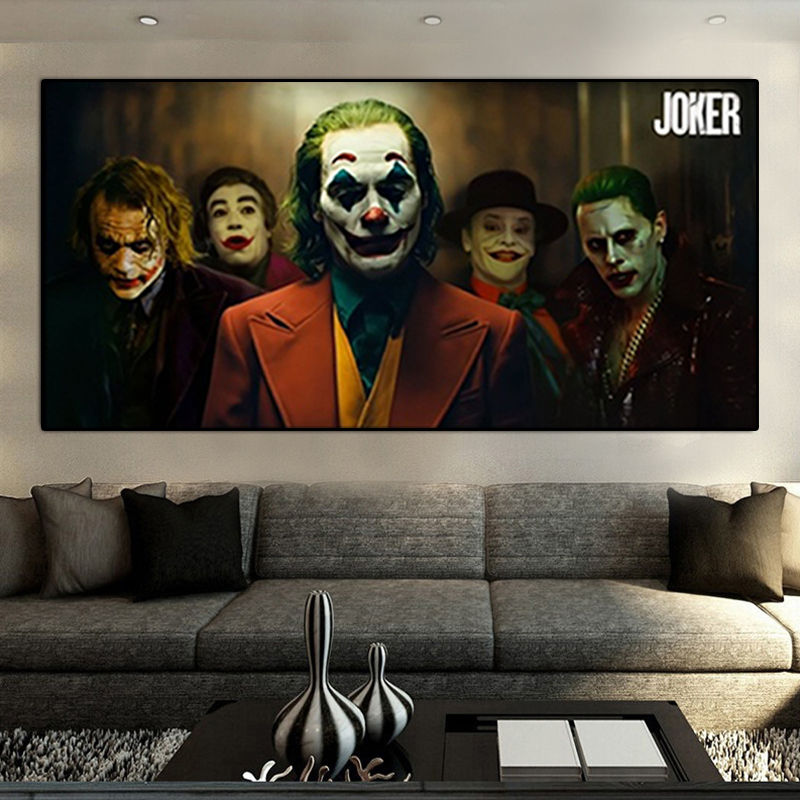 Latest Movie joker Batman Enemy HD Movie Oil Painting on Canvas Posters and Prints Cuadros Wall Art Pictures For Living Room image