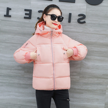 KMVEXO 2019 New Design Winter Solid Jacket Women Hooded Padded Warm Thicken Coat Students Outwear Parka Casaca Feminino