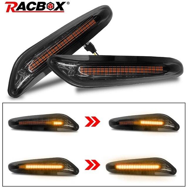2pcs Smoke LED Side Marker Light Flowing Water Indicator Turn Signal Lights  Error Free For BMW E90 E91 E92 E93 E60 E87 E82 E61