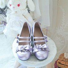 Японский kawaii для девочек туфли в стиле «Лолита» винтажном