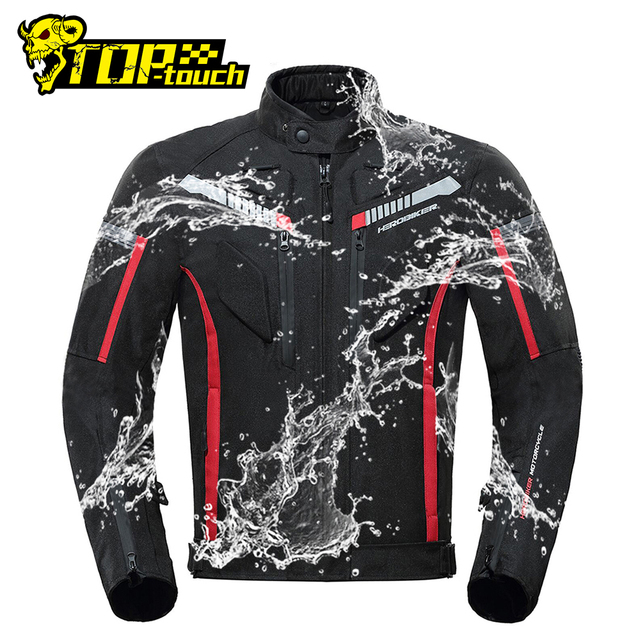 HEROBIKER Motorcycle Jacket Men Waterproof Moto Jacket Motorcycle Cold proof Autumn Winter Motorbike Riding Moto Jacket Black