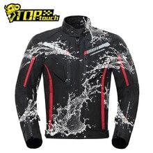 Herobiker Motorjas Mannen Waterdichte Moto Jas Motorfiets Koude Proof Herfst Winter Motorrijden Moto Jacket Black