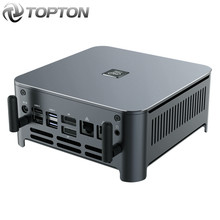 TOPTON Mini PC Windows 10 Intel i9 10880H 8 Core 16 Themen 2 * DDR4 2 * M.2 NVME 2 * Lan Barebone System DP HDMI HTPC NUC 4K Computer
