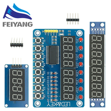 TM1637 4 Bits/TM1638/MAX7219 8 bit Digital LED Display Module 7 Segment 0.36Inch Clock RED Anode Tube Four Serial Driver