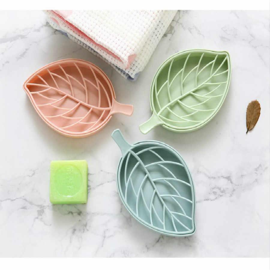 Soporte de jabón en forma de hoja portátil para lavar el baño de viaje hojas de rebanada perfumadas caja de espuma jabón de papel al por mayor Envío Directo