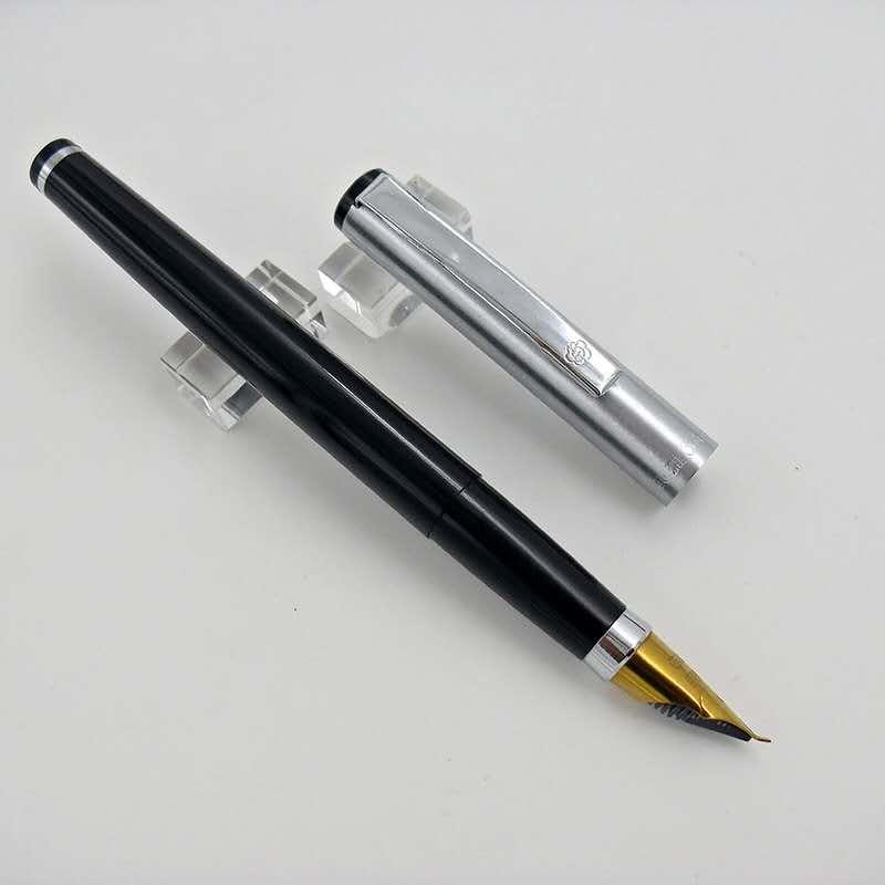 Herói velho estoque 345 caneta caneta tinta caligrafia fude nib puxar para fora tampa clipe de prata escola estudante escritório papelaria escrita