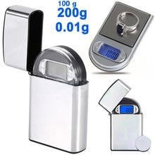 Электронные весы, весы для ювелирных изделий, 200 г/0,01 г, цифровой Алмазный Ювелирный инструмент с подсветкой, измерительный инструмент, Мини Взвешивание, грамм, карман