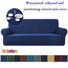 Hot Waterproof Sofa Cover Blue High Stretch Slipcover All inclusive Elastic Couch Cover Sofa Covers For