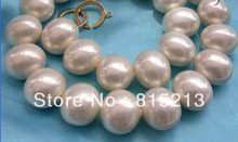 DdhN93 stunning big 19mm barock weiß südsee shell perle halskette N Discount A(China)
