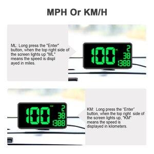 Image 2 - Gps velocímetro c60 exibição hud carro km/h mph china barato c80 auto eletrônica velocidade display c90 c1090 grande tela a100 hud