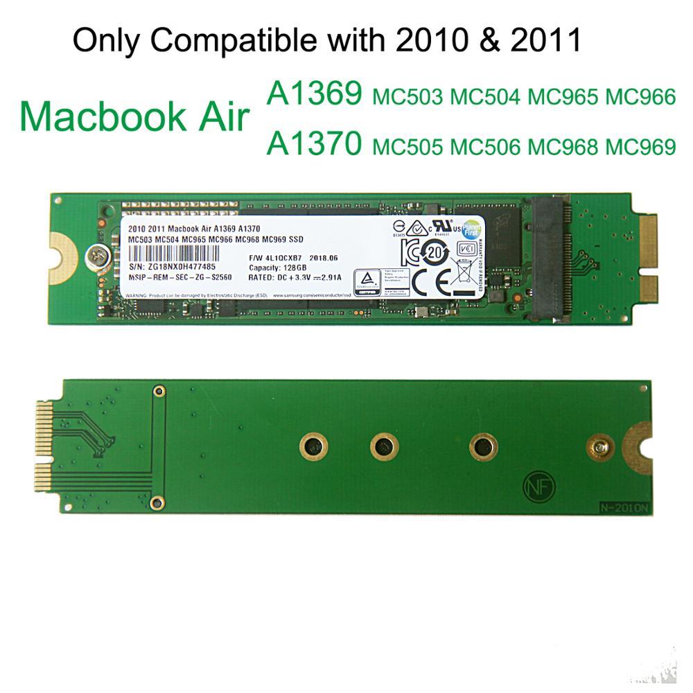 128 GO 256 GO 512 GO à 1 TO Disque SSD Pour 2010 2011 Apple Macbook Air 13