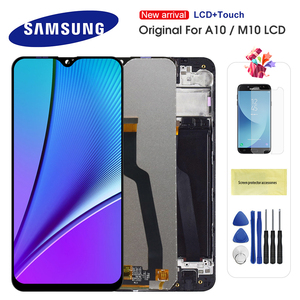 Original 6.2'' LCD For Samsung Galaxy A10 M10 A105 A105F SM-A105F LCD Display Touch Screen Digitizer Assembly Replacement Amoled
