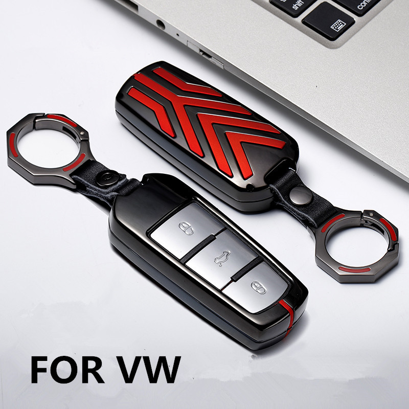 For Volkswagen VW CC Passat B6 B7 Passat 3C CC Maogotan R36 B5 B7L Auto Key Co NEW Zinc Alloy Leather Car Styling Key Cover Case