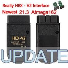 Vag com 20.12.0 realmente 21.3 hex-v2 vag hex v2 interface atmega162 2nd obd2 vagcom testadores elétricos geral multi-línguas
