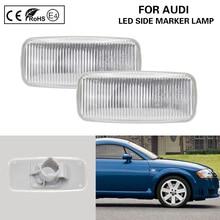 цена на 2*PCS Clear Side Marker Lamp light OEM turn signal light Fits For Audi A3 hatchback Sportback A4 B6/B7 A6 C6 Avant sedan