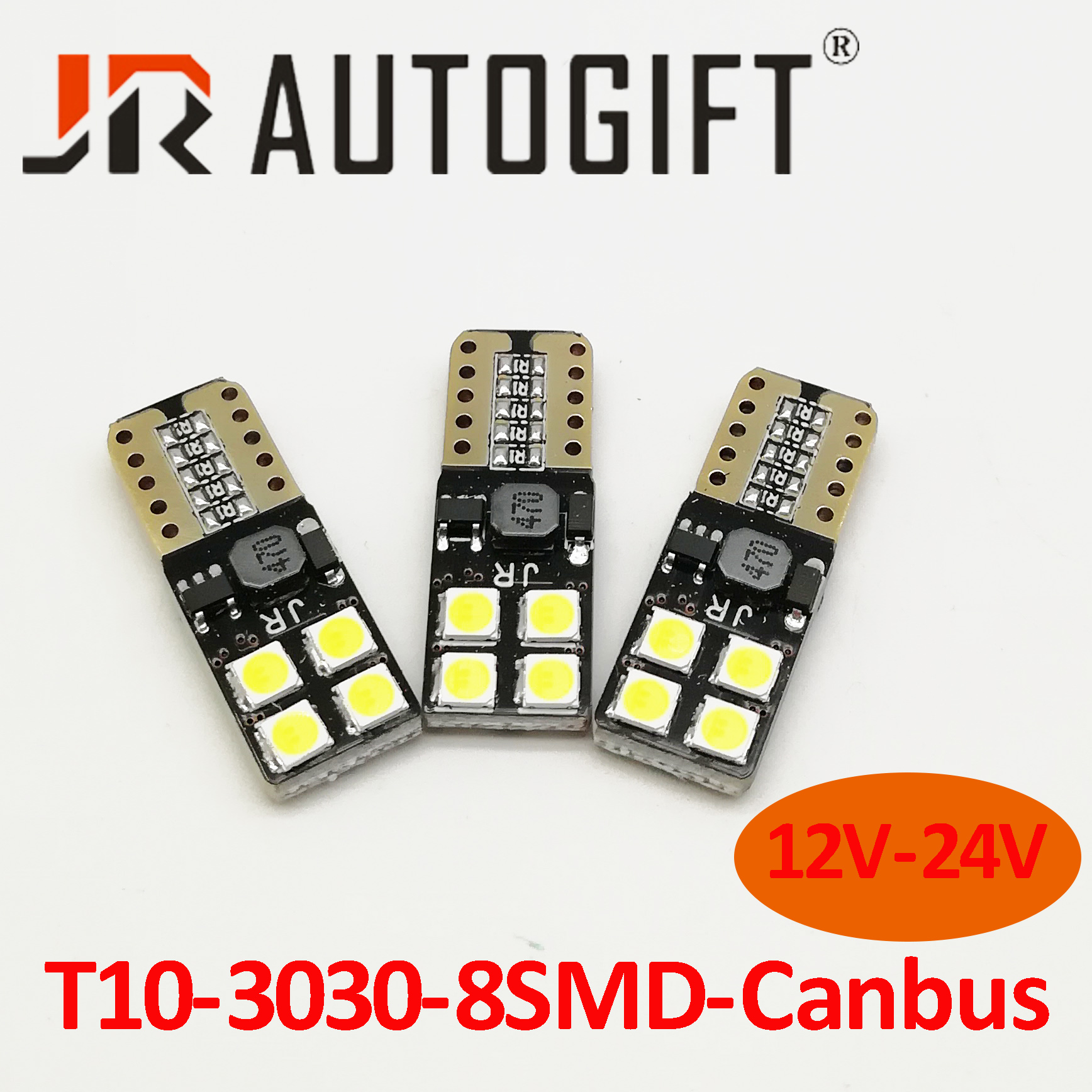 2x Canbus T10 194 168 W5W 5630 8 LED SMD White Car Side Wedge Light Lamp Buld FT