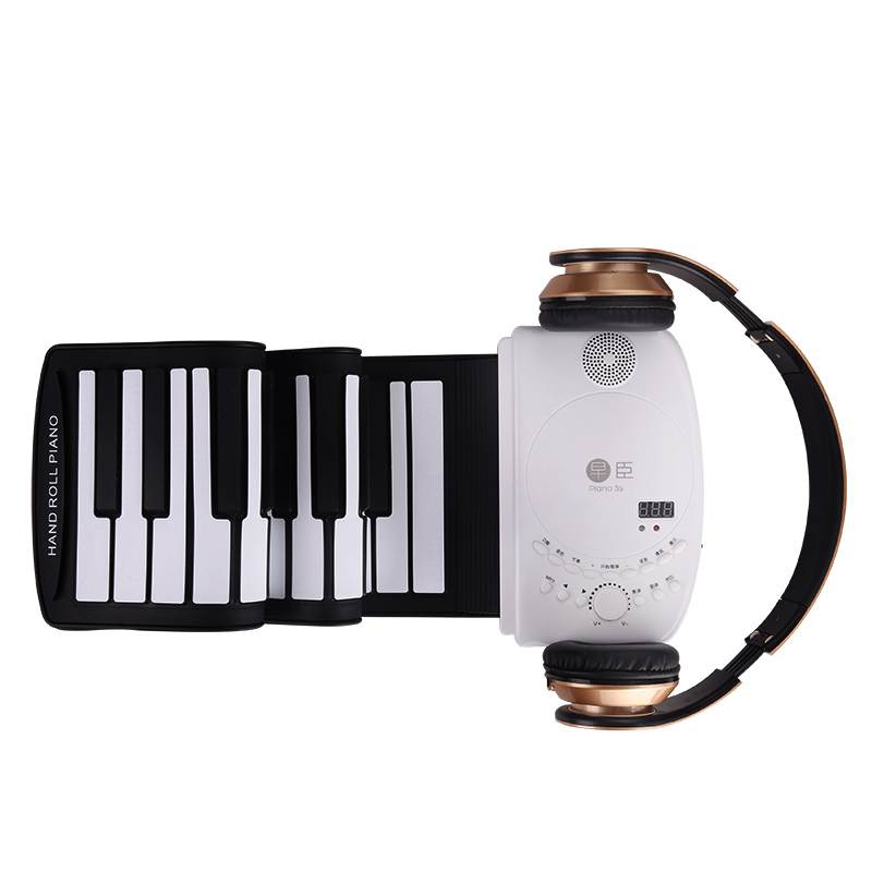 синтезаторы 88 клавиш - High quality 88 keys Roll up  professional soft silicone midi electronic hand roll piano keyboard Musical keyboard Instruments
