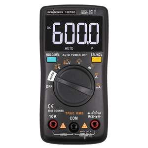 Image 1 - RM101 Digital Multimeter 6000 counts Backlight AC/DC Ammeter Voltmeter Ohm Portable Voltage meter RICHMETERS 098/100/109/111